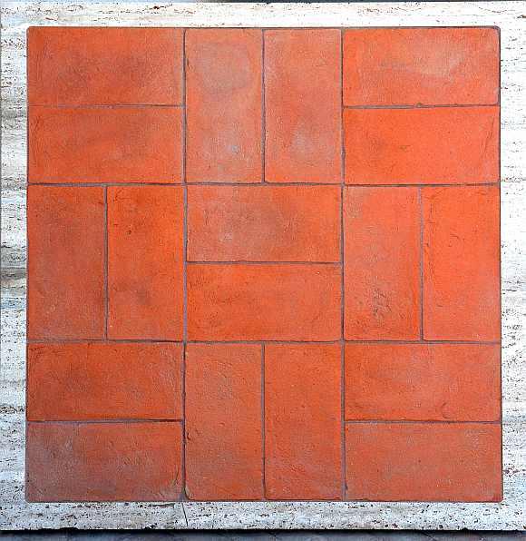 foto pavimento cotto rettangolare rosso toscano