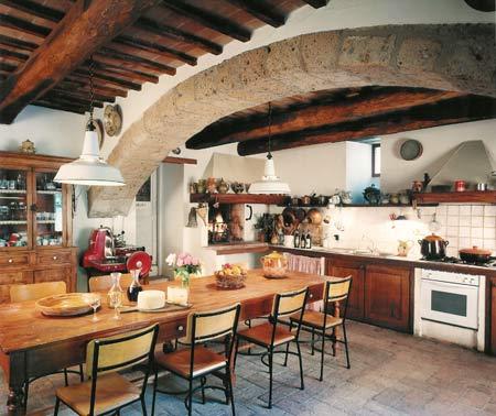 pavimento cucina di un casale