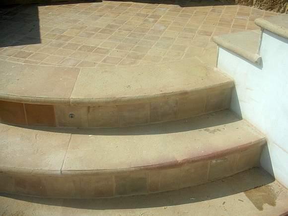 Scala da esterno in cotto scale e gradini in cotto per esterno - Scale da esterno in muratura ...