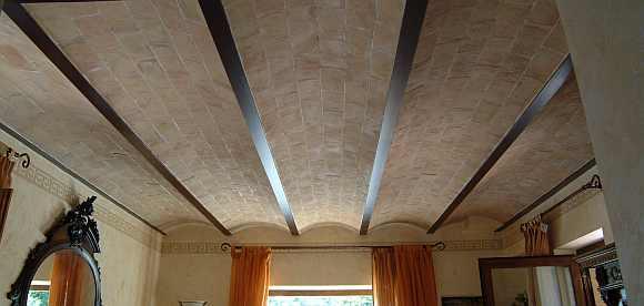 foto sottotetto ad archi in cotto artigianale