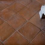 Fotografia di mattonella quadrata 25x25 in cotto fatto a mano Antico Restauro